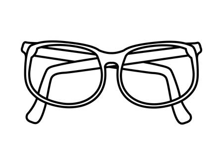 optical instrument: Optical instrument represented by classic glasses with lens icon over flat and isolated background
