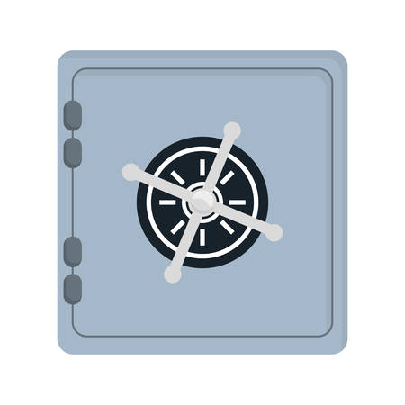 strongbox: Security system and protection represented by strongbox icon over flat and isolated background Illustration