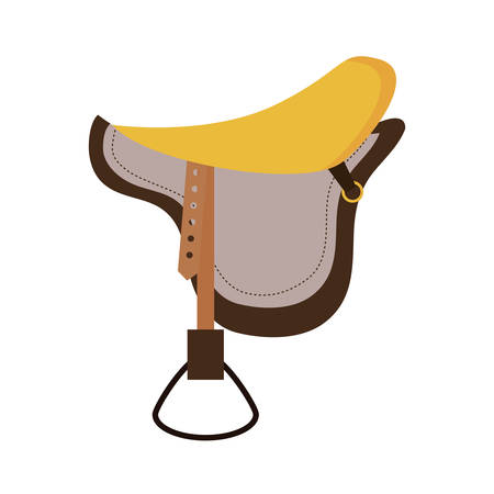 ridding: Horse and equine lifestyle  concept represented by chair icon over flat and isolated background