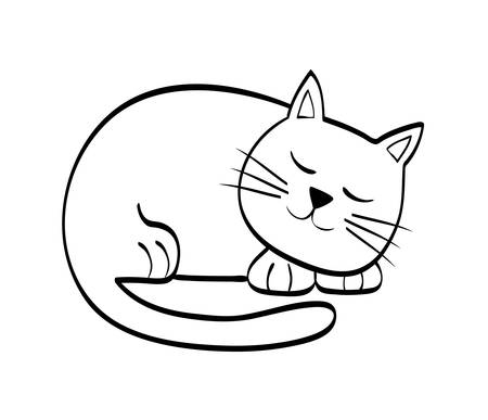 cozy: Cat concept represented by cute animal icon over flat and isolated background Illustration