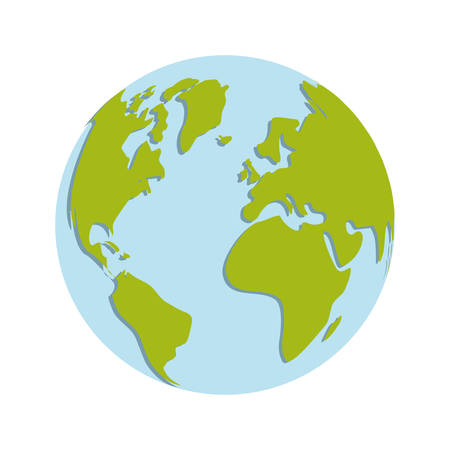 environment geography: Planet concept represented by sphere world  icon over flat and isolated background Illustration