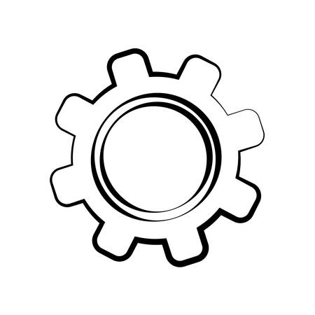 machine part: Machine part concept represented by gear icon over flat and isolated background