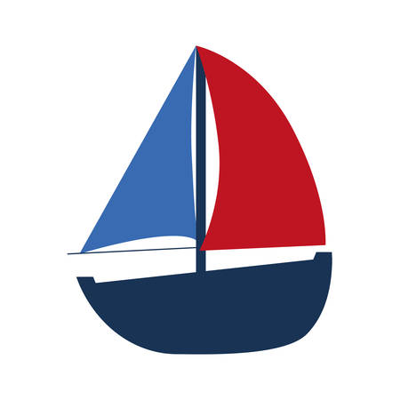 sailing boats: Sea lifestyle concept represented by sail boat  icon over flat and isolated background Illustration