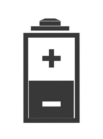 battery acid: Energy concept represented by battery  icon over flat and isolated background
