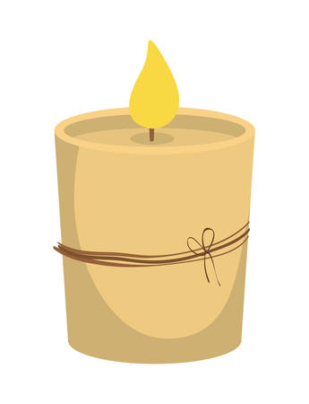 illuminate: Candle concept represented by object for illuminate icon over flat and isolated background