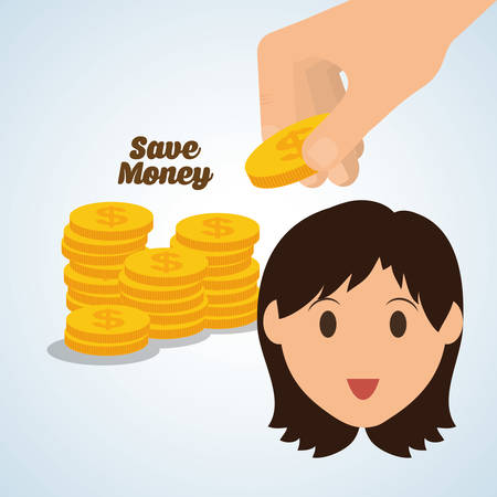 Save Money concept with icon design, vector illustration 10 eps graphic.