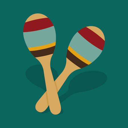 maraca: Music instrument concept represented by maraca icon over flat and isolated background Illustration
