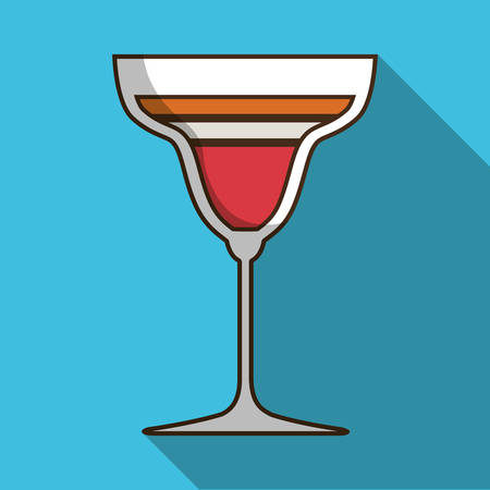 colorfull: Drinks glass, style cocktail, colorfull design with shadow and flat illustration