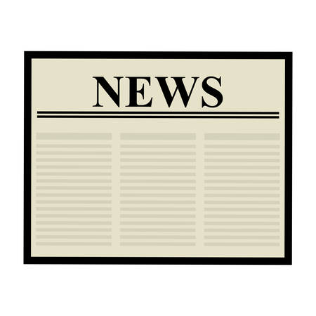 broadsheet newspaper: Communication concept represented by newspaper icon over flat and isolated background