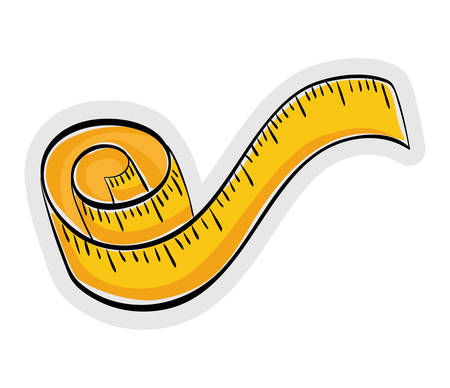 Measurement concept represented by meter icon over flat and isolated background