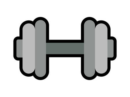 heavy metal: Metal weight concept represented by heavy object icon over flat and isolated background