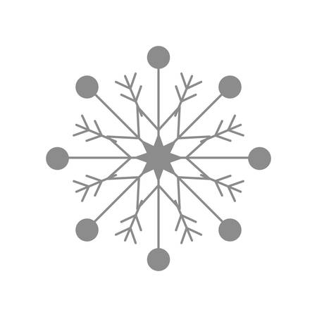 snowy hill: Winter concept represented by grey snowflake icon over flat and isolated background