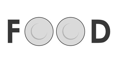 food plate: Food concept represented by couple of plate icon over flat and isolated background