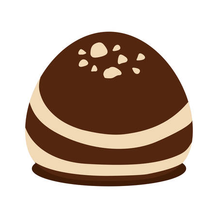 chocolate truffle: Dessert or sweet concept represented by chocolate icon over flat and isolated background Illustration