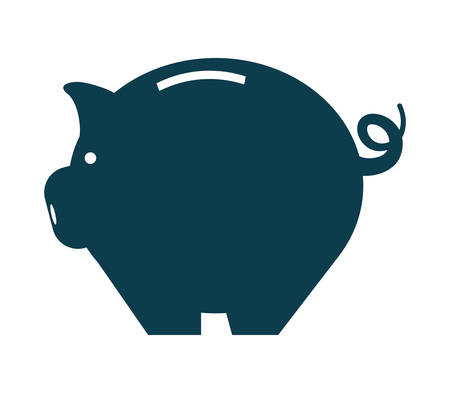 financial item: money and financial item concept represented by Piggy  icon over flat and isolated background Illustration