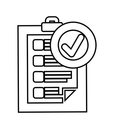 check icon: Delivery and Shipping concept represented by silhouette of check list icon over flat and isolated background