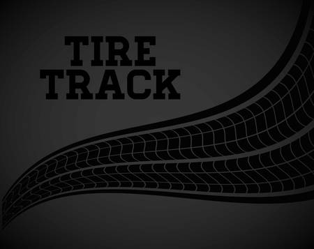 tire tread: Tire track print graphic design, vector illustration eps10