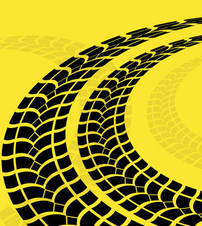 tyre tread: Tire track print graphic design, vector illustration eps10