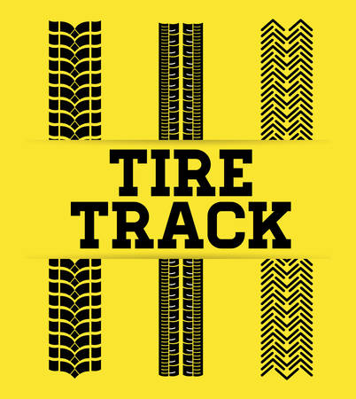 Print design: Tire track print graphic design, vector illustration eps10
