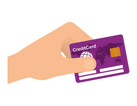 financial item: Money and Financial item concept represented by credit card icon over flat and isolated background