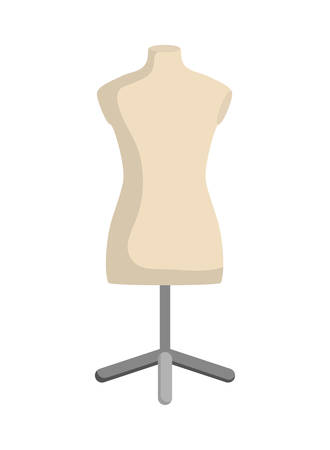 tailored: Tailor and sewing concept represented by manikin icon over flat and isolated background Illustration