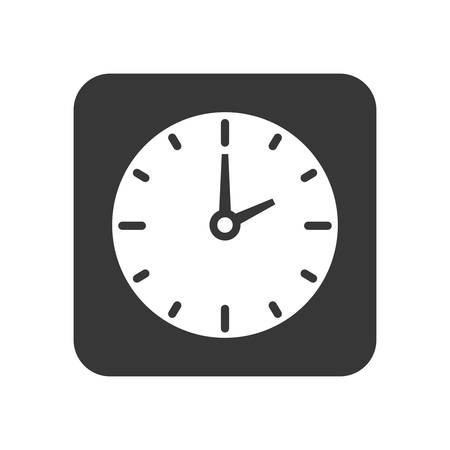 time frame: Time concept represented by clock frame  icon over flat and isolated background
