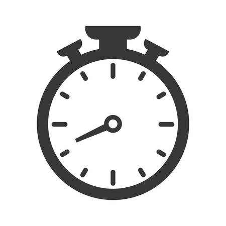 chronometer: Time concept represented by chronometer icon over flat and isolated background