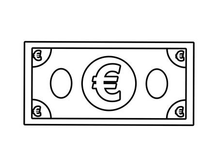 financial item: Money and Financial item  concept represented by bill icon over flat and isolated background