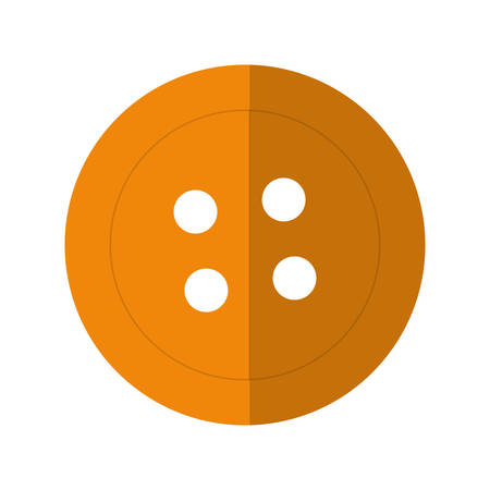 tailored: Tailor and sewing concept represented by button icon over flat and isolated background
