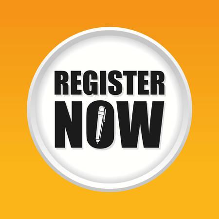 premium member: Register now design over yellow background, vector illustration.