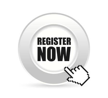 premium member: Register now design over white background, vector illustration. Illustration