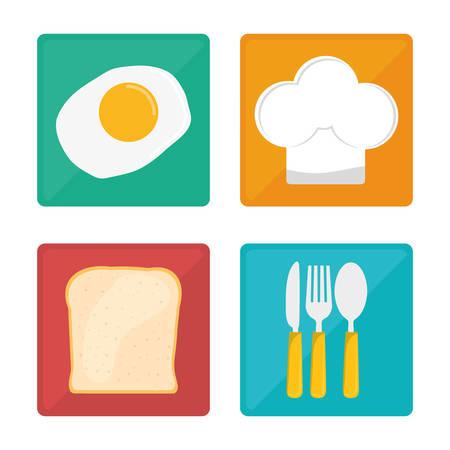 baby cutlery: Kids menu design over white background, vector illustration.