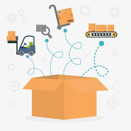 article marketing: Delivery design over white background, vector illustration.