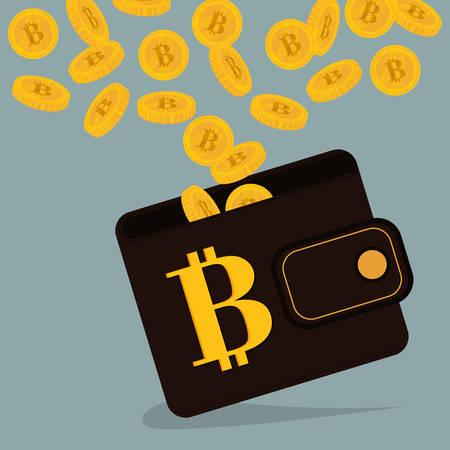 million: Bitcoin design over gray background, vector illustration.