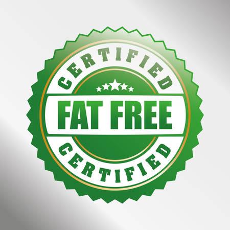 Low fat free label design, vector illustration.