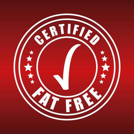 low fat: Low fat free label design, vector illustration.