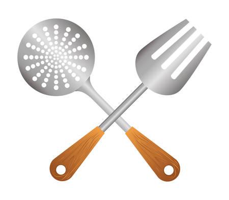 nutriments: Restaurant design over white background, vector illustration.