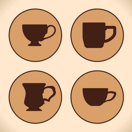 nutriments: Coffee design over beige background, vector illustration. Illustration