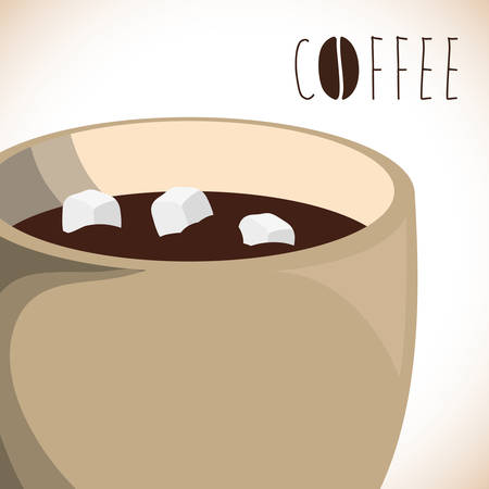 sugar cube: Coffee design over white background, vector illustration.