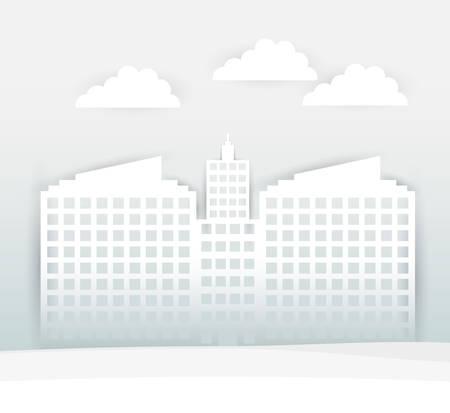 hometown: Urban design over black background, vector illustration. Illustration