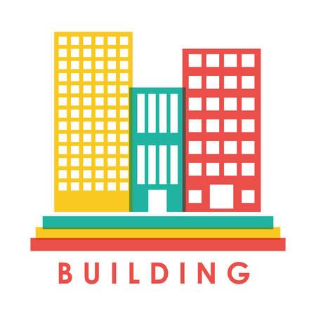 hometown: Urban design over white background, vector illustration.