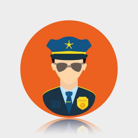 tribunal: Police design over white background, vector illustration.