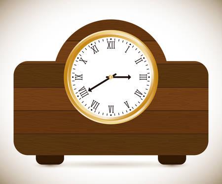 display type: Time design over white background, vector illustration. Illustration