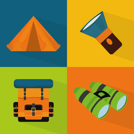 camping tent: Camping design over colorful background, vector illustration.