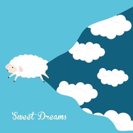 zzz: Sleep design over blue background, vector illustration.