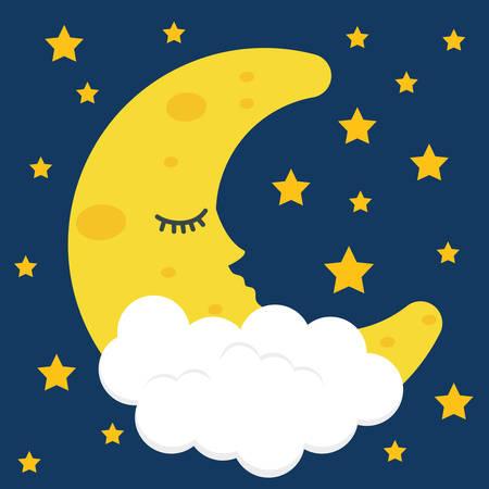 Sleep design over blue background, vector illustration. Vektoros illusztráció