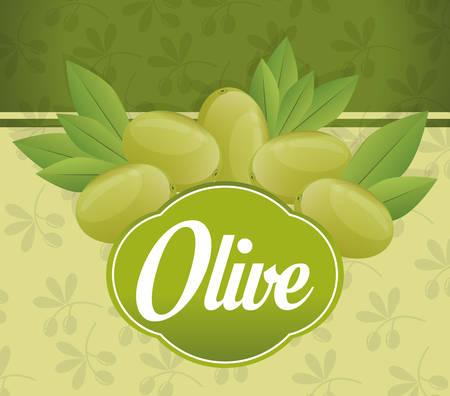 olive green: Olive oil design over green background, vector illustration.