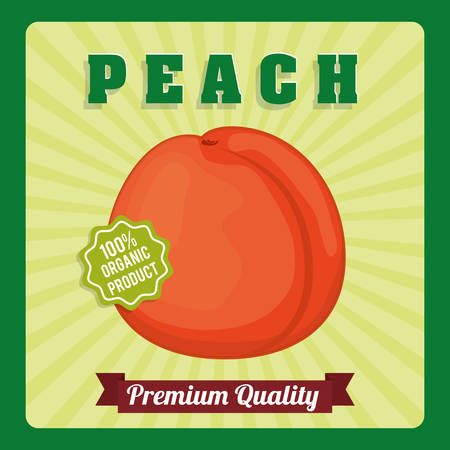 quality of life: Fruits design over green background, vector illustration.