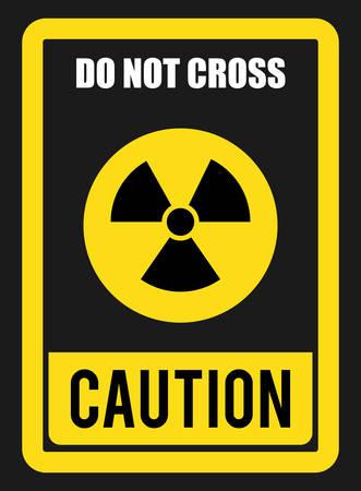 danger do not cross: Caution design over gray background, vector illustration. Illustration