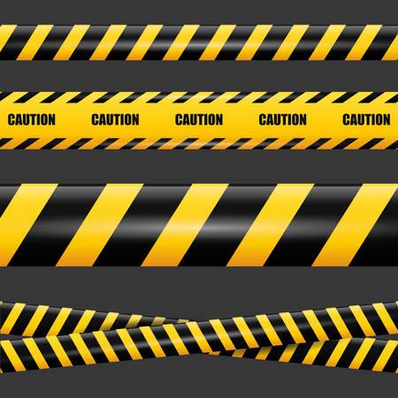 hazard tape: Caution design over black background, vector illustration. Illustration